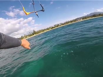 Unbelievable trick by Keahi defies gravity, physics! - Kitesurfing News